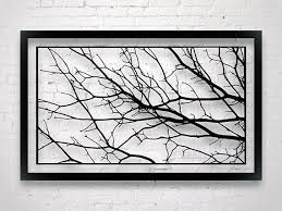zoom on wall art with real tree branches with large tree branch decor modern wall art luxury wall art