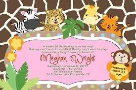 Baby Shower Jungle Animals Clipart  ClipartXtrasBaby Shower Jungle