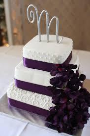 Purple And White Wedding Cake Ideas