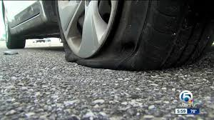 flat tire. Plain Flat 30 Vehicles Experience Flat Tires On Interstate 95 Northbound In Palm Beach  County Throughout Flat Tire A