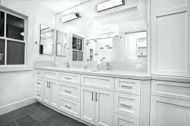 White Bathroom Cabinets With Dark Countertops White Cabinets In