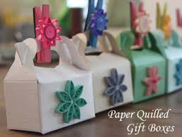 Decorating Boxes With Paper Party Gift Boxes Decorated with Paper Quilling Honey's Quilling 71