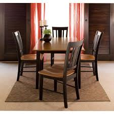 international concepts 5 piece black and cherry dining set