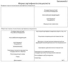 Сертификат специалиста медицинского работника СтудПроект Лицевая и оборотная сторона титула сертификата медика