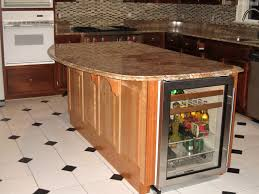 kitchen island granite top sun: industrial kitchen island furniture glass door drink cooler on edge kitchen island and curved breakfast bar table with fixed brackets clever and stylish kitchen islands with storage create compact look idea