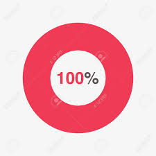 Pie Chart Over 100 Percent Icon Red And Black Chart 100 Percent Pie Chart Vector