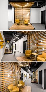office seating area. Just Outside The Reception Area In This Modern Office Is A Hallway That Has Clearly Seating P