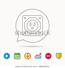 Usa Socket Icon Electricity Power Adapter Stock Vector