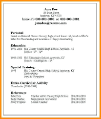 High School Resume Examples Magnificent Resume Examples For Students In High School Good Resumes For High