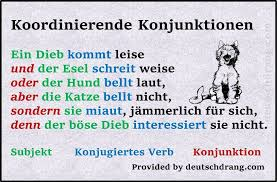 Coordinating conjunctions--German conjunctions