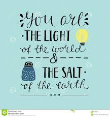 Salt And Light Poster Hand Lettering You The Light Of The World And The Salt Of