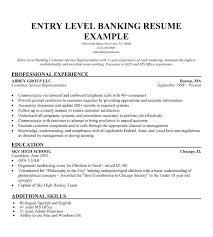 Accounting Job Resume Entry Level Banker Resume Sample Samples ...