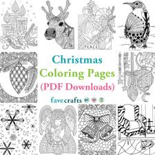 Christmas Coloring Paper 18 Christmas Coloring Pages Pdf Downloads Favecrafts Com