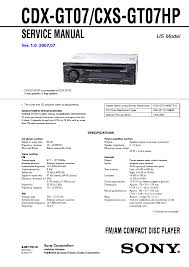 sony mdx c800rec service manual schematics eeprom sony cdx gt07