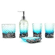 Blue Waters Bath Accessories  OceanStylescomAqua Colored Bathroom Accessories