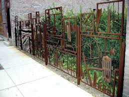 s metal urban garden fence and gate better get the welder out this would be a