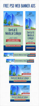 psd college university web banner ads templates psd web banner ads template