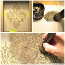 perfectly paisley diy stencil how to tutorial a stenciled niche accent wall with royal design on paisley wall art stencil with stencil niche with stencil creme paints paint pattern