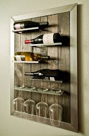 Wall wine racks Horizontal Wall Mounted Wine Rack And Glass Holder By Urbanwestdesigns Pinterest Wall Mounted Wine Rack And Glass Holder By Urbanwestdesigns Mason