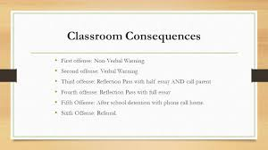 th grade ccc by ms ratcliffe behavior expectations ms 12 classroom consequences
