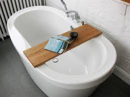 bathtub trays reading made teak wood ideas