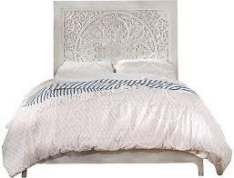 Boho Chic Washed White King Bed
