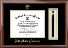 united states military academy diploma frames certificate  embossed seal tassel box mahogany diploma frame