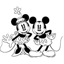 Disegno Di Minnie E Topolino Classici Da Colorare Per Bambini