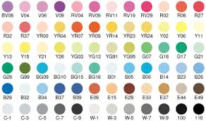 Color Chart Copicmarkers Com With An S For Savings