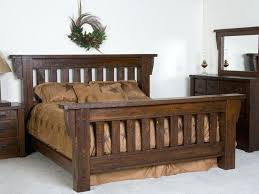 Rustic Wooden Bed Frame Rustic Wood Bed Frame Plan Reclaimed Wood ...