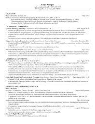 Resume Mechanical Engineering Senior