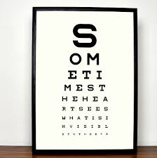 Snellen Chart Uk Printable Personalised Eye Chart Fine Art Print
