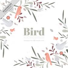 vintage birds background. Interesting Background Hand Drawn Cute Birds And Leaves Background In Vintage Style Free Vector On Vintage Birds Background