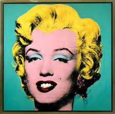 marilyn monroe pop art painting in green background framed