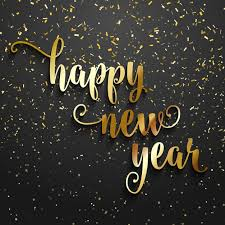 happy new year background. Brilliant Happy Happy New Year Background With Golden Confetti Free Vector And New Year Background W