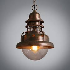 Industrial inspired lighting Ceiling Image Unavailable Amazoncom Cuican Creative Antique Pendant Lights American Style Village
