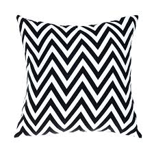 outdoor chair cushions black white modern sofa cushion printed and striped decorative pillows