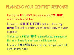 writing a context essay an approach to structure 2
