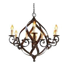 large wrought iron candle chandelier black