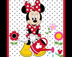 Fabric wall hangings   Etsy & Minnie Mouse Grow your own Panel Fabric quilt Disney Springs Creative Wall  hanging craft project Quilting Adamdwight.com
