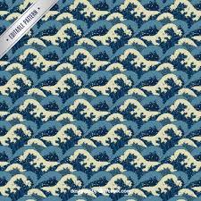Japanese Wave Pattern Classy Japanese Waves Pattern Vector Premium Download