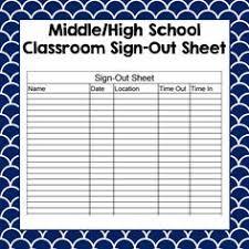 school bathroom sign.  Bathroom Classroom SignOut Sheet On School Bathroom Sign
