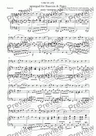 bassoon sheet music ode to joy easy bassoon version download sheet music pdf