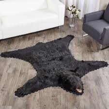 5 feet 7 inches 170cm black bear rug 22838711