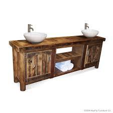 rustic double sink bathroom vanities. Exellent Rustic RUSTIC BATHROOM VANITIES  BARN WOOD FURNITURERUSTIC FURNITURE Intended Rustic Double Sink Bathroom Vanities