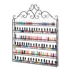 nail polish racks metal 6 tier rack wall mounted display organizer hold bottles us for nail polish racks wall rack canada