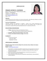 Cover Letter Example Resume For Job Resume Example For