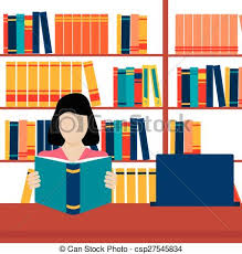 student reading open book csp27545834