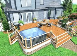 Backyard Decking Designs Simple Deck Design Plans Robertkashouhco