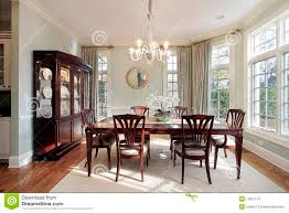 Dining Room With Bay Windows Stock Photos Image - Bay window in dining room